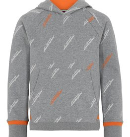 Lamborghini hoodie grijs tekst all over