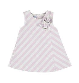 Mayoral jurk streep jersey roze/ecru