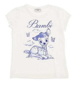 Monnalisa t-shirt wit bambi blauw