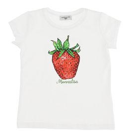 Monnalisa t-shirt km aardbei en logo