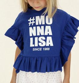 Monnalisa blauw t-shirt poncho model