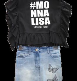 Monnalisa zwart t-shirt met hashtag