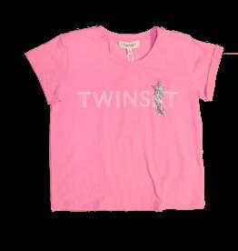 Twinset T-shirt logo rose blosom km