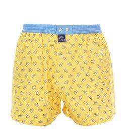 Mc Alson boxershort geel met strandstoel