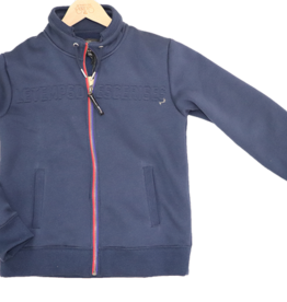 Le temps des cersies gilet sweatstof rits donkerblauw