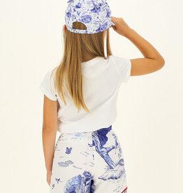 Monnalisa pet wit blauw met klep
