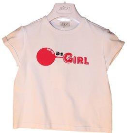 Jeycat T-shirt wit met big girl