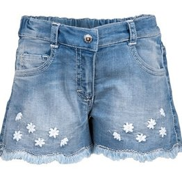 Elsy short jeans bloemetjes