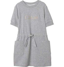 Chloe jurk km grijs chine zakken