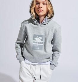 Antony Morato hoodie grijs print palmboom