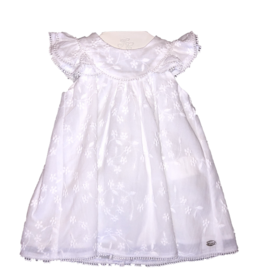 Tartine et Chocolat jurk wit gevoerd kapmouw