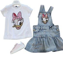 Monnalisa t-shirt daisy duck print en glitters