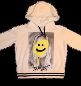 Twinset sweater kap smiley offwhite