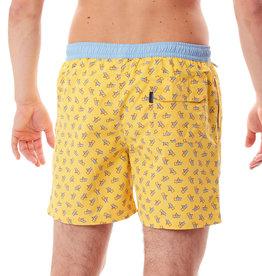 Mc Alson zwembroek geel strandstoel blauw