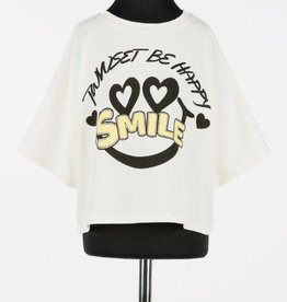 Twinsert ecru t-shirt be happy smile