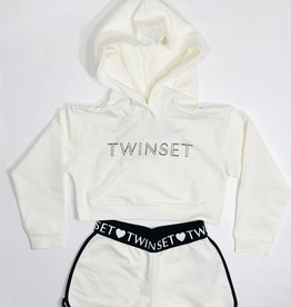 Twinset ecru set hoodie en short