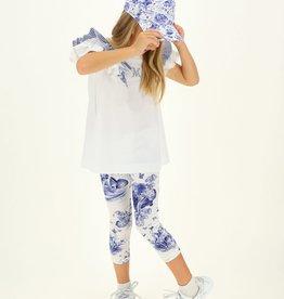 Monnalisa legging knabbel babbel wit blauw