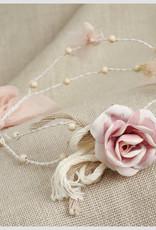 Zoysan diadeem met roos en tule strik