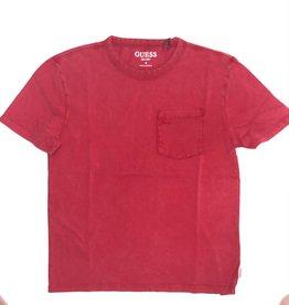 Guess T-shirt rood garment dye