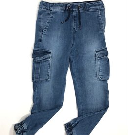 Guess jeans blauw cargo opzetzakken