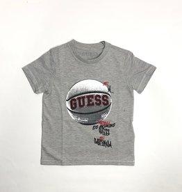 Guess grijs t-shirt met bal guess