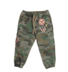 Guess cargo broek camouflage opzetzakken
