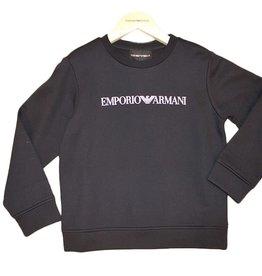 Armani navy sweater logo wit