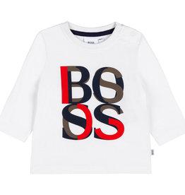 Hugo Boss wit t-shirt  letters rood en zwart
