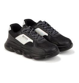 Hugo Boss zwarte sneaker met hippe zool