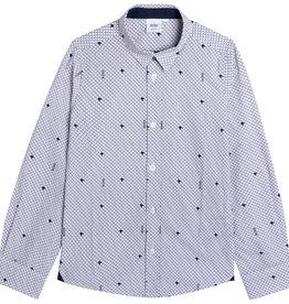 Hugo Boss wit hemd met grijs en zwart