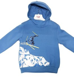 Il Gufo blauwe hoodie met skier
