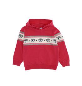 Chiara Ferragni sweater met kap en logo  fuchsia