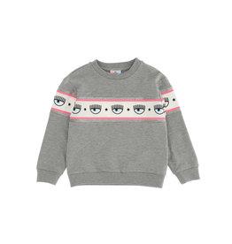 Chiara Ferragni grijze jogging sweater  met logo
