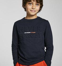 Mayoral T-shirt blauw opliggende letters