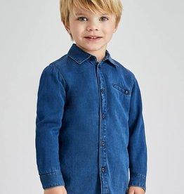 Mayoral jeans hemd denim kleur