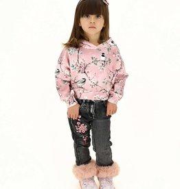 Monnalisa roze hoodie bloemen
