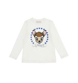 Monnalisa ecru t-shirt met bambi