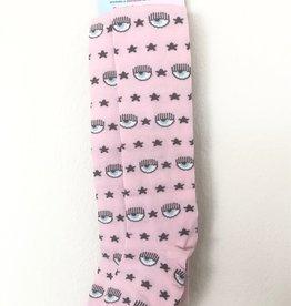 Chiara Ferragni roze collant logo