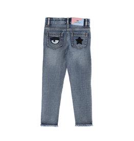 Chiara Ferragni jeansbroek blauw destroyed