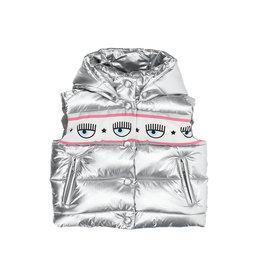 Chiara Ferragni zilver bodywarmer met logo