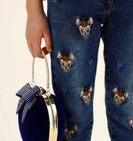 Monnalisa jeans broek blauw met bambis