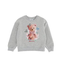Monnalisa grijze sweater met beer