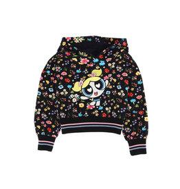 Monnalisa hoodie bloemen powergirl