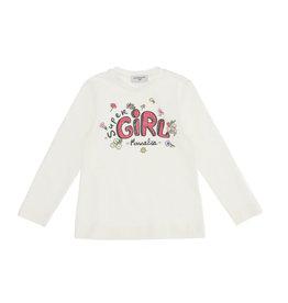 Monnalisa T-shirt super girl bloemetjes