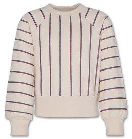 AO76 sweater ronde hals strepen rood blauw