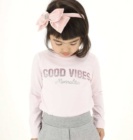 Monnalisa roze t-shirt good vibes