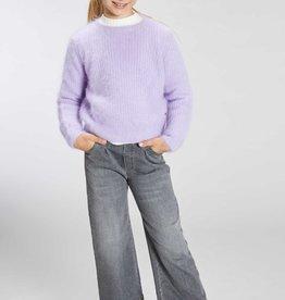 Blue Bay broek jeansgrijs wijd