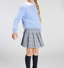 Blue Bay rok geruit grijs/blauw