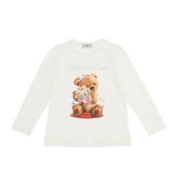 Monnalisa ecru t-shirt met beer en monnalisa