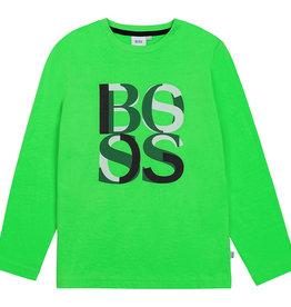 Hugo Boss groen t-shirt lm met letters